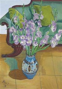 gladiolas by alice neel
