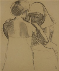 le 6e panneau du décor de psyché (preparatory drawing) by maurice denis