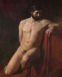 male nude with a drape by henryk siemiradzki
