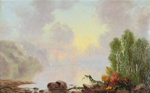 hudson river the palisades by frederick a butman