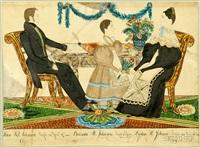 portrait of john b. johnson, belinda m. johnson and lydia h. johnson by joseph h. davis