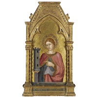 saint barbara by taddeo di bartolo