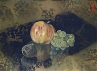 pomme, raisins et figue by vladimir karpoff