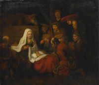 adoration of the shepherds by abraham van dyck