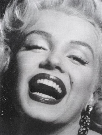 youre a topshop princess a rock star too marilyn laughing close up by russell young