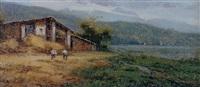 dia de siega landscape by salvador caballero