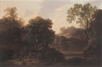 rustic figures in a landscape by john smith the younger