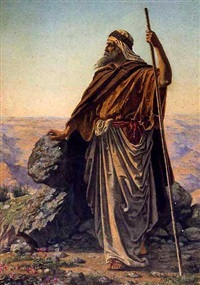 moses viewing the promised land from mount nebo by robert dowling