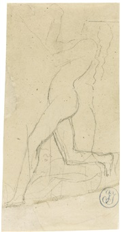 study of a female nude dancing by jean-auguste-dominique ingres