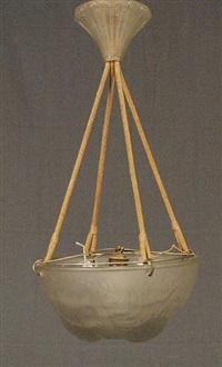 suspension modèle dahlias by rené lalique