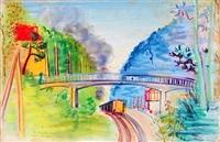 paysage au chemin de fer by andré robert