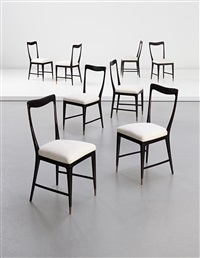 dining chairs (set of 8 works) by guglielmo ulrich
