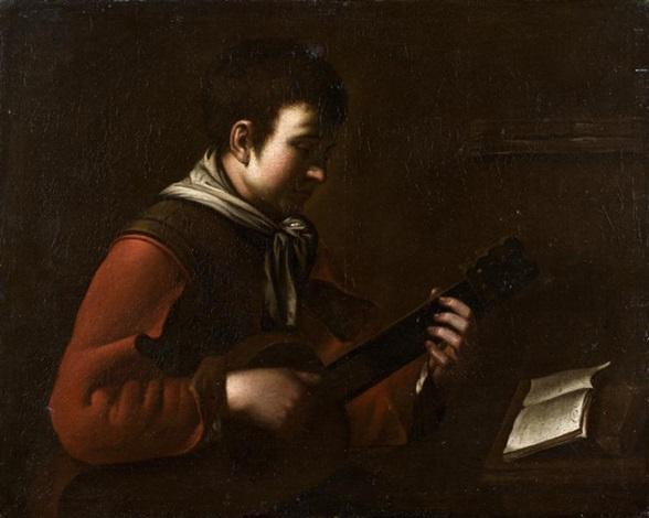 le joueur de guitare by jean baptiste santerre