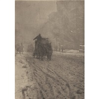 winter, fifth avenue (from camera work xii) by alfred stieglitz