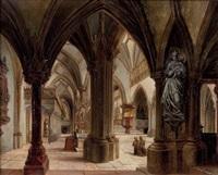 die nonnbergkirche (interieur) in salzburg by georg pezolt