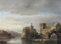 view of a dutch town by kasparus karsen
