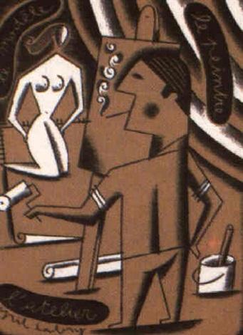 le modele le peintre latelier by cyril cabry