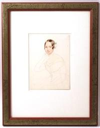 porträt einer jungen frau (study) by alois von anreiter