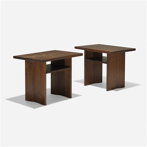 portsmouth end tables pair by george nakashima