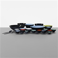 krenit bowls with two serving utensils (set of 43) by herbert krenchel