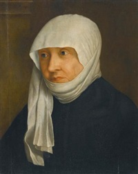 portrait of a lady, thought to be sabina of bavaria (1492-1564) by christoph amberger