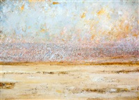 african landscape with orche sky by harold voigt