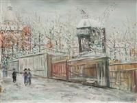 moulin de la galette sous la neige à montmartre by maurice utrillo