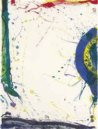 untitled (from michel waldberg: poèmes dans le ciel) by sam francis