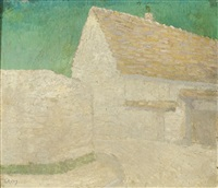 a view of a house by otto van rees
