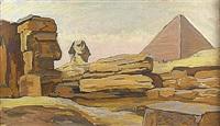 le sphinx de gizeh by louis adolphe riou