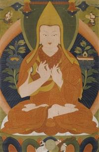 portrait de tsongkhapa by anonymous-tibetan (18)