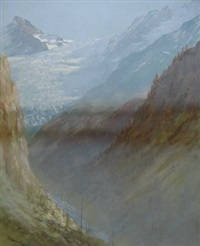mountain pass by george jackson flemwell