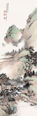 赵松雪秋山晓霁 by xiao junxian