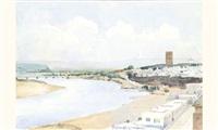 vue de la tour hassan rabat by rené antayol