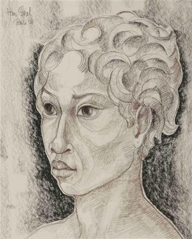 portrait of a balinese boy by han snel