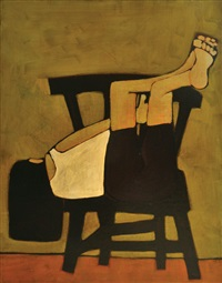 girl and chair by john baird