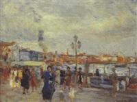 la riva degli schiavoni a venezia by antonio piatti