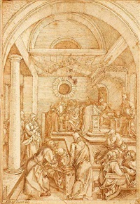 christ among the doctors by cornelis (kunst) cornelisz
