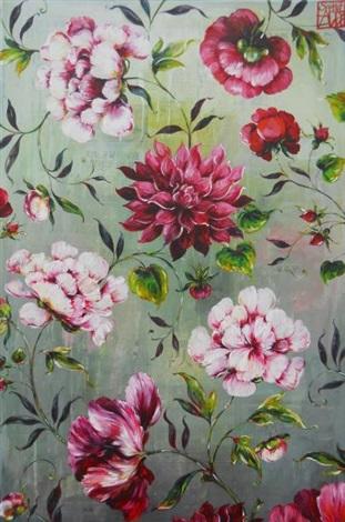 grande perse fleurs by sophie adde
