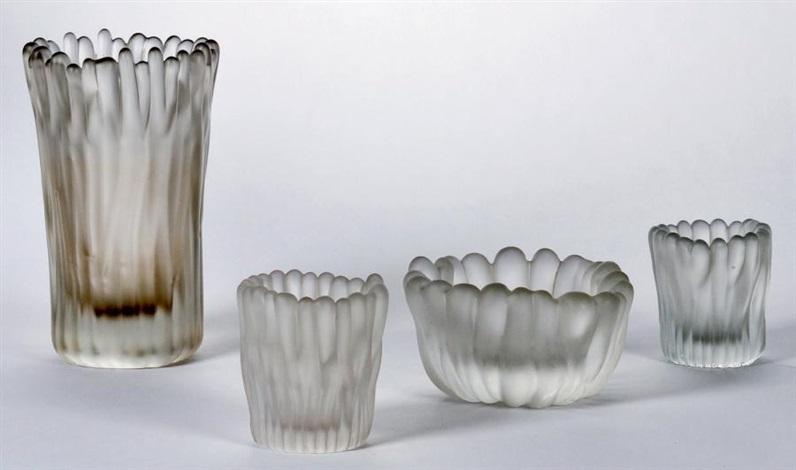 ensemble de quatre vases modèle jäkälä (set of 4) by tapio wirkkala