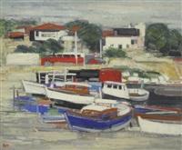 bateaux au port by ginette rapp
