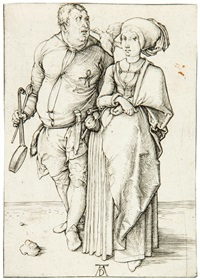 a cook and his wife by albrecht dürer