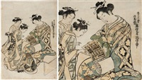 untitled (benizuri-e) by okumura masanobu