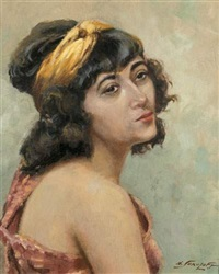 portrait de femme by nikolai sokolov
