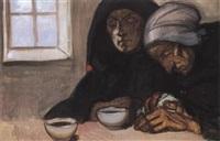 deux femmes de l'ile de sein by jean georges cornelius