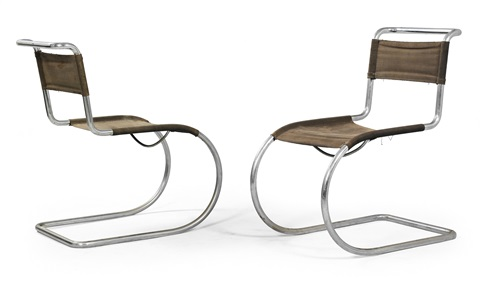 cantilever chairs model no mr 10 pair by ludwig mies van der rohe