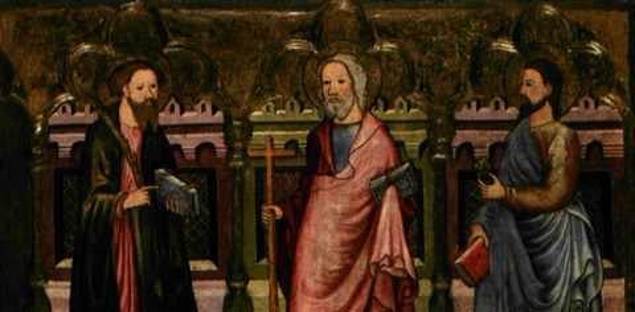 san pietro apostolo san giacomo maggiore san giacomo minore by michael pacher