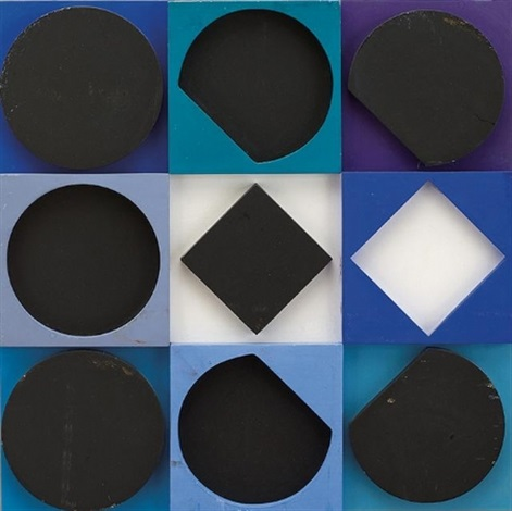 topaze noire positif edition by victor vasarely