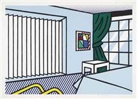 bedroom, from: interior series by roy lichtenstein