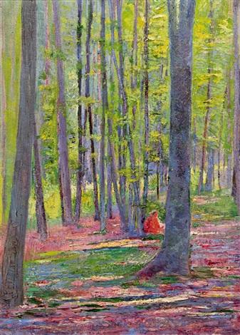 einsames picknick im wald by hans böhler